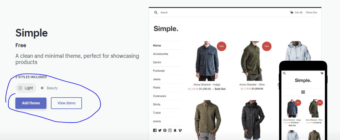 Publish A Theme On Shopify store
