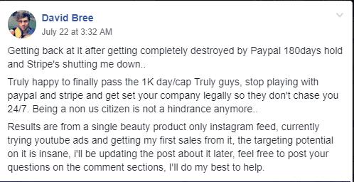 Paypal bans Dropshipping Stores