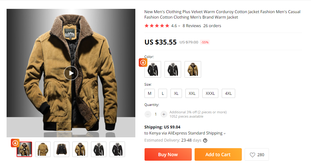 men's clothing products