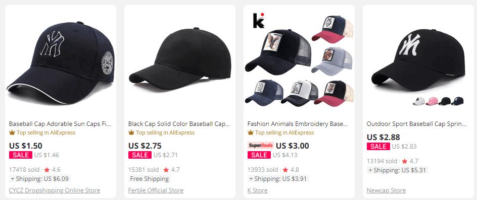 Men's clothing baseball cap