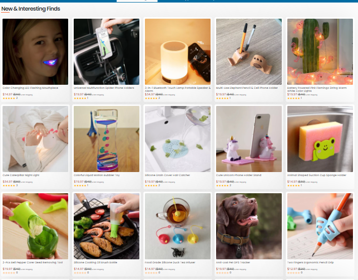 Store product pages